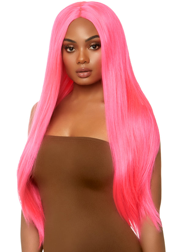 Long Straight Wig 33 Inch - Pink - VIP NovelTease