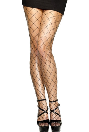 Diamond Net Tights - Black FV-42713