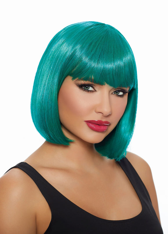 Mid-Length Bob Wig - Teal - VIP NovelTease