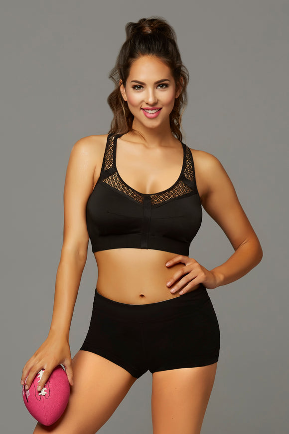 Strike Make It Happen Sports Bra With Netting Inserts  - Large - Black STM-30131BLKL