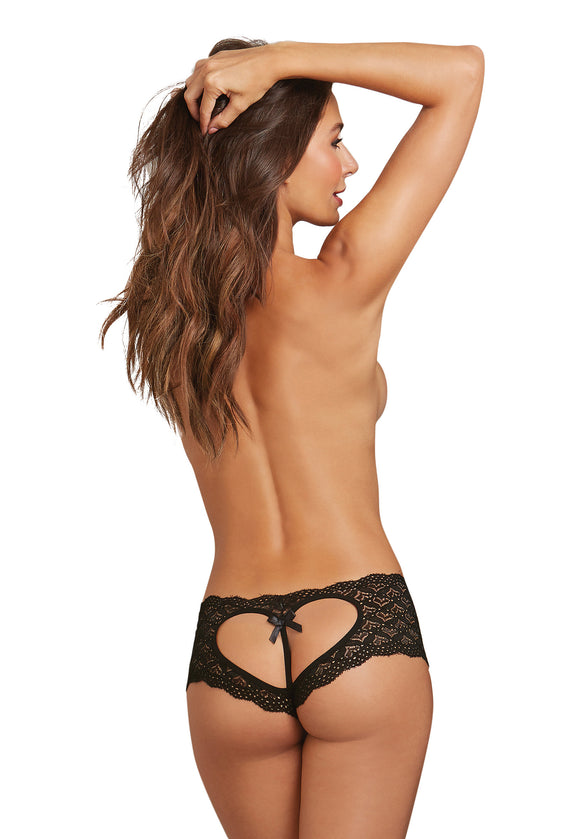 Open Back Panty - Black - Large DG-1442BLKL