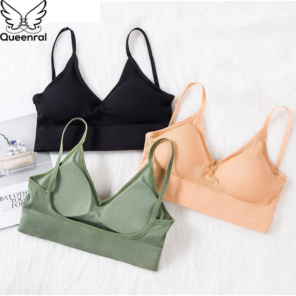 Queenral 2 Pcs Bras - Seamless U Type Backless Bra