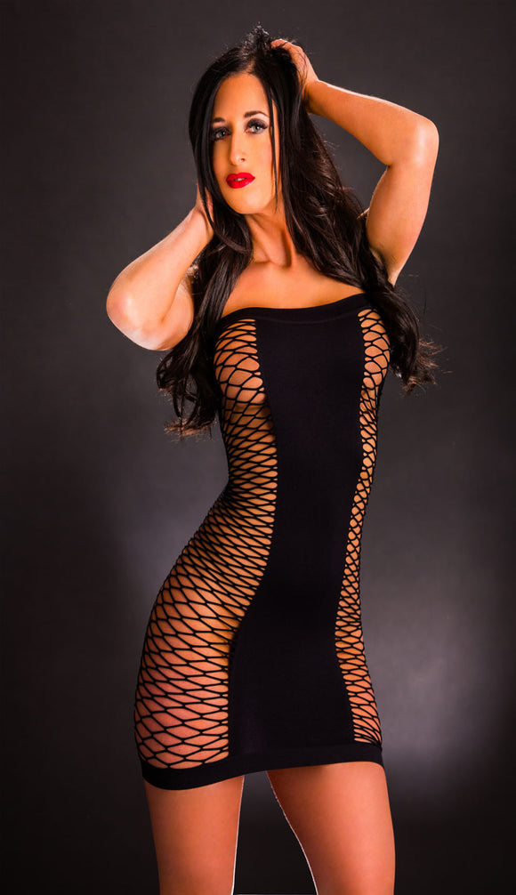 Tube Dress - One Size - Black BH-69252SD-BK