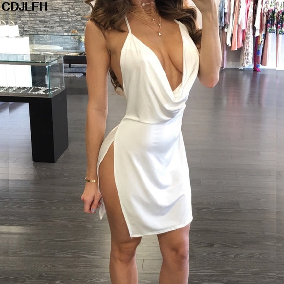 Deep V Evening Dress (nz712)