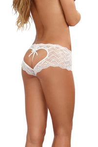Open Back Panty - White - Small DG-1442WHTS