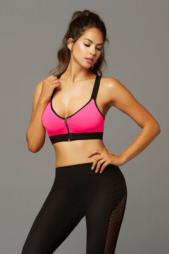 Strike Earn It Sports Bra - Extra Large - Hot Pink STM-30132HPNKXL