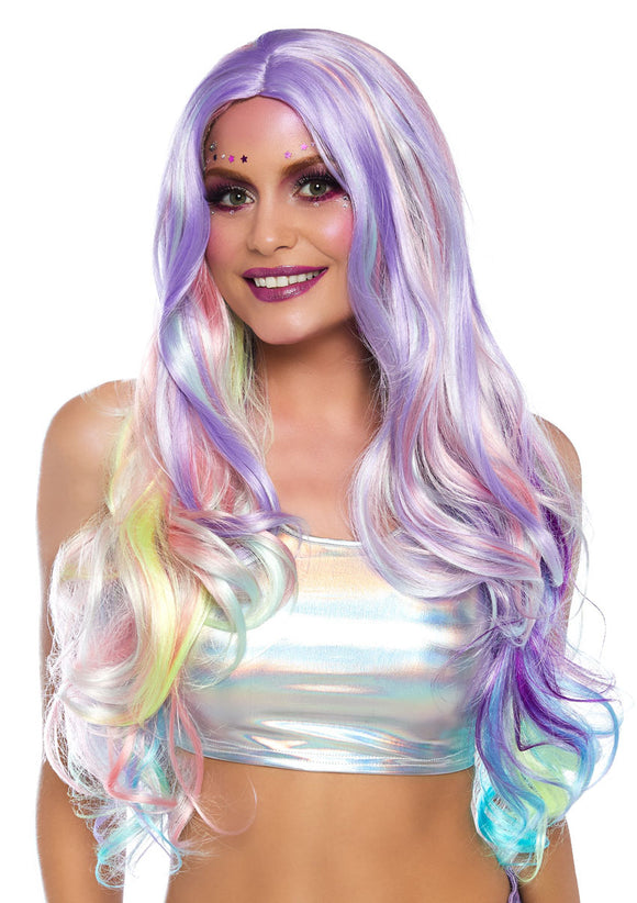 Pastel Rainbow Long Wavy Wig - VIP NovelTease
