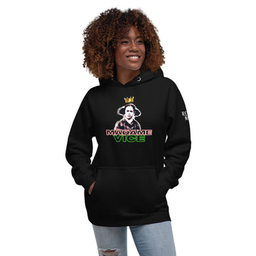 RN SPECIAL EDITION PINK/GREEN QUEEN VICE WOMEN'S UNISEX HOODIE