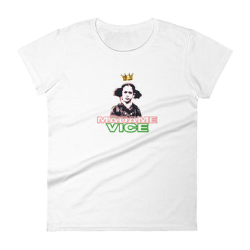 RN SPECIAL EDITION PINK/GREEN QUEEN VICE WOMEN'S TEE