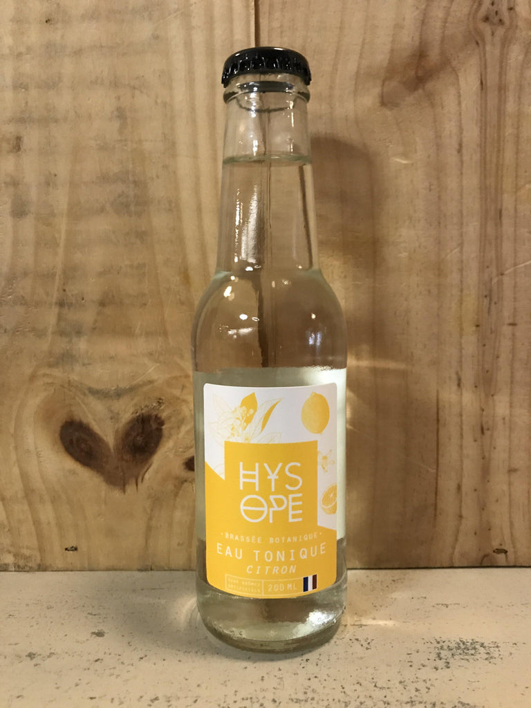 HYSOPE Eau Tonique Citron BIO 20cl France - Cave du Palais, 64000 Pau