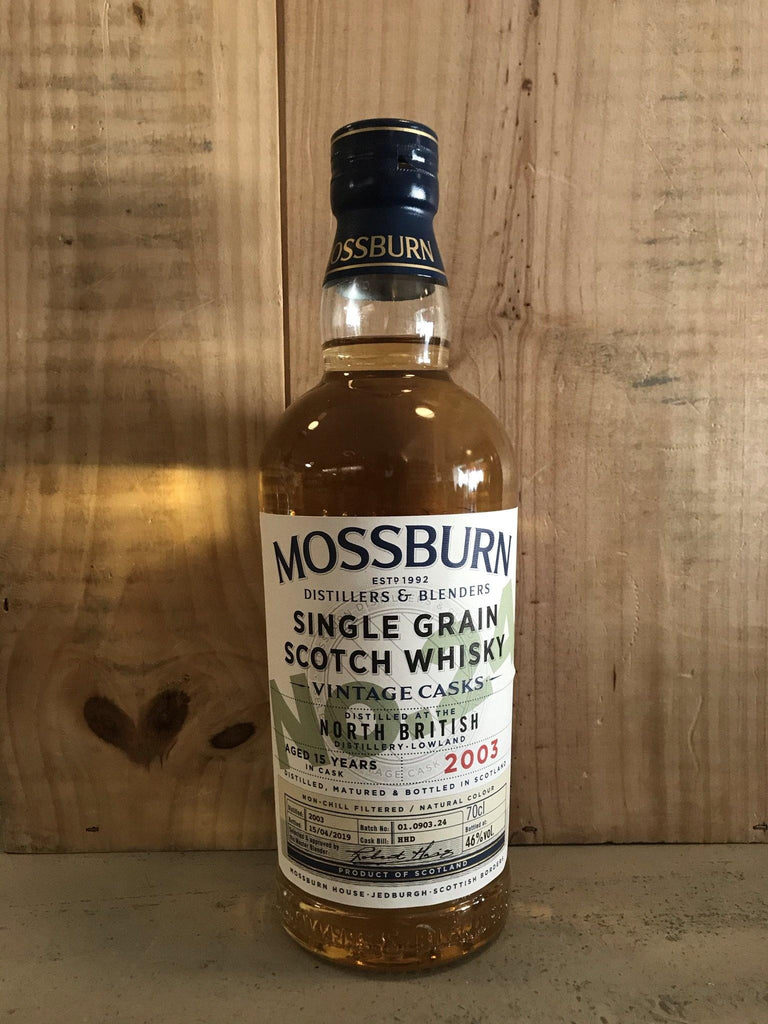 MOSSBURN North British Cask 24 15ans 46° Single Grain Lowlands 70cl - Cave du Palais, 64000 Pau