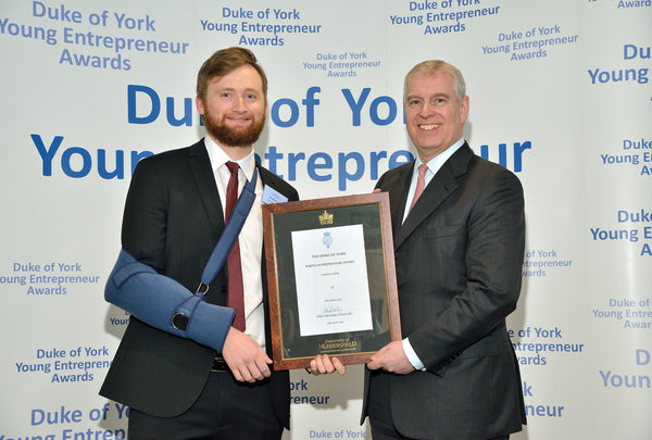 Beardbase and the Duke of York - young entrepreneur of the year
