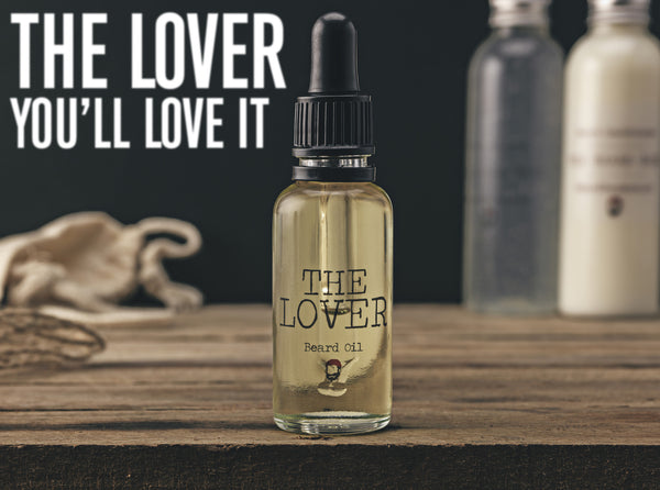 The Lover - a luxury aphrodisiac beard oil.