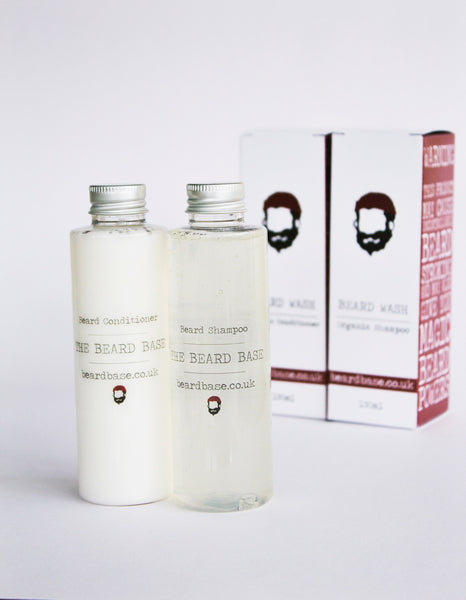 BeardBase Unscented Fragrance-Free Beard Shampoo and Conditioner Wash