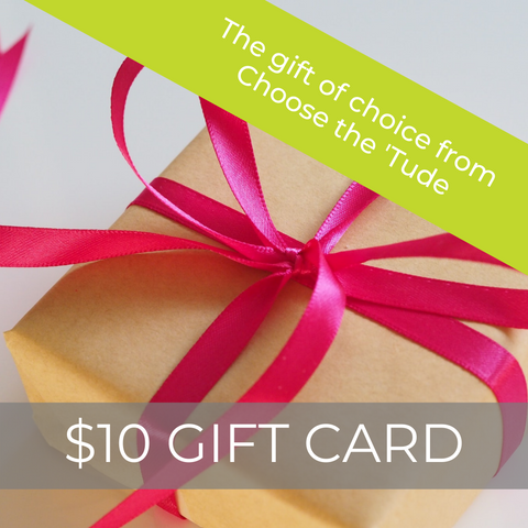 $10 Choose the 'Tude eGift Card