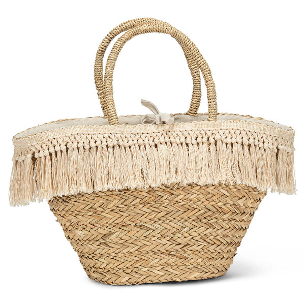 Neutral Basket Tote