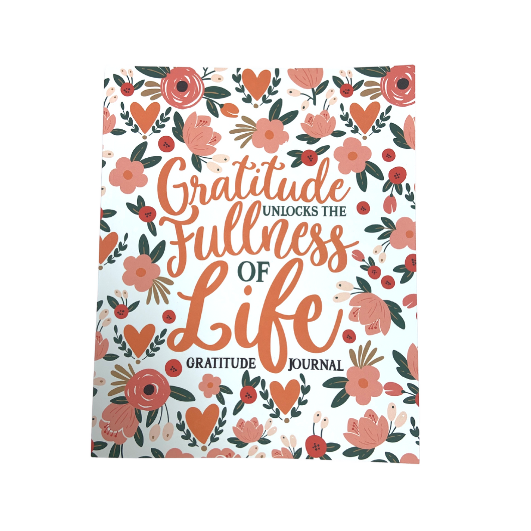 Gratitude Journal in Coral