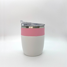 Load image into Gallery viewer, Pink and White Insulated Tumbler