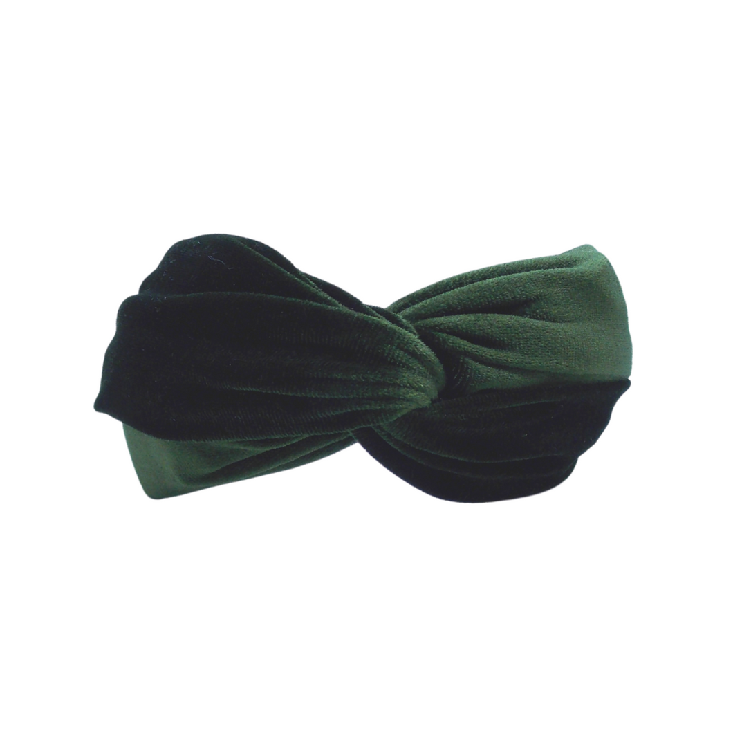 Army Green Velvet Headband