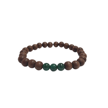 Load image into Gallery viewer, Mahogany Wood Power Bracelet