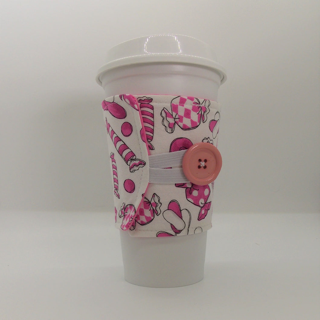 Coffee Sleeves Pink Candy