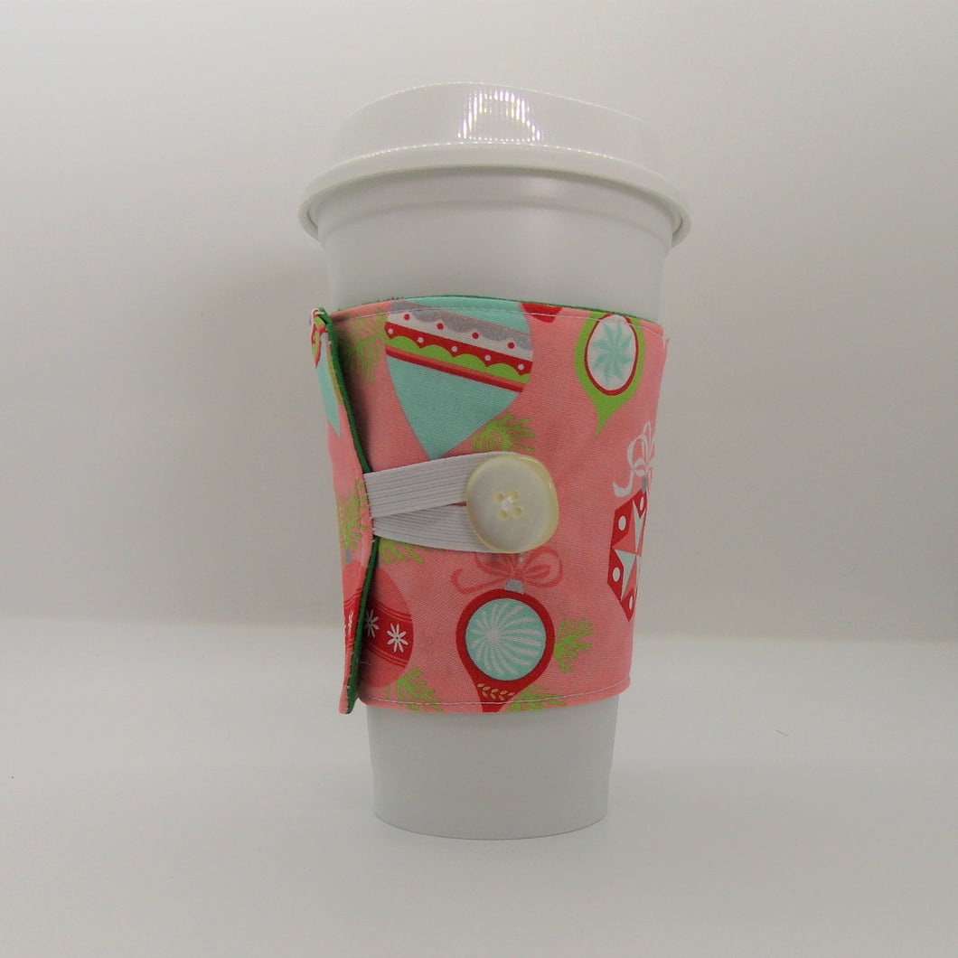 Coffee Sleeve 50's Ornaments