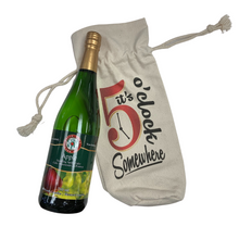 "Load image into Gallery viewer, Wine Tote ""It's 5 O'clock"""