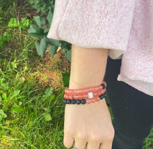 Load image into Gallery viewer, Strawberry Quartz Power Bracelet