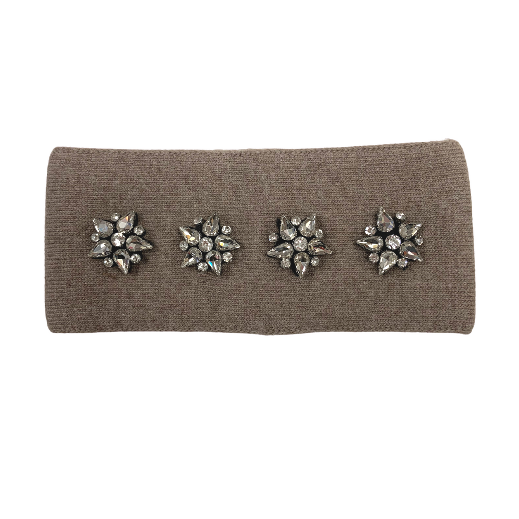 Crystal Cashmere and Acrylic Taupe Headband