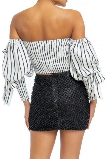 puff sleeve tube top