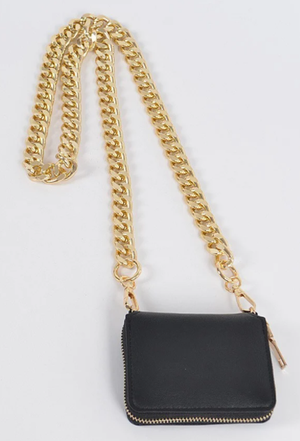 CHUNKY CHAIN | cross body wallet [Pre-Order]