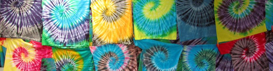 Spiral-patterned tie-dye
