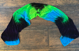 Silk/Rayon Scarf Turquoise/Purple/Lime