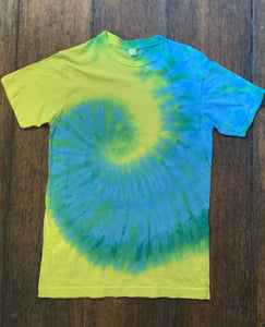 Tie Dye, Short Sleeve T Shirt, Size Small