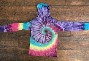 Comfort Colors Long Sleeve Tie Dye T-Shirt Hoodie
