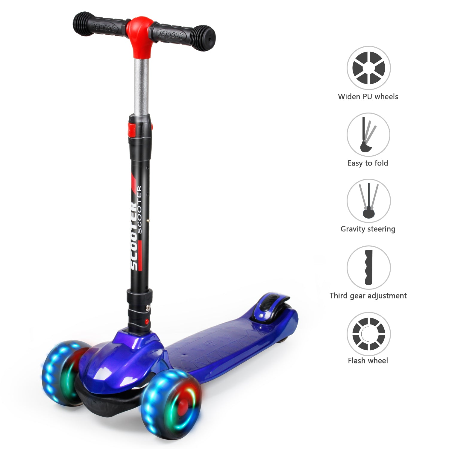 YHR Toddler Scooter  - Kick Scooter for Kids 2-8 Year Old boy & Girl - Paint process