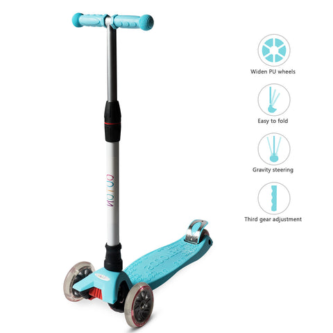 YHR Toddler Scooter  - Kick Scooter for Kids 2-8 Year Old boy & Girl - Pure color
