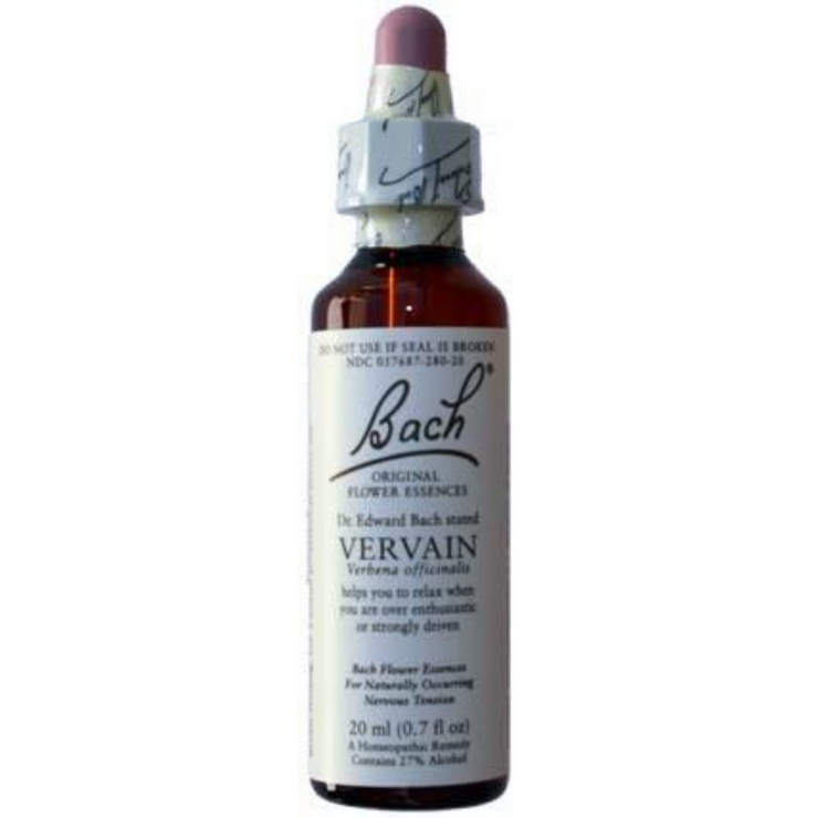 Bach Flower Remedy:  Vervain 20ml