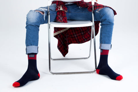 Image of Men's Usa Flag Socks