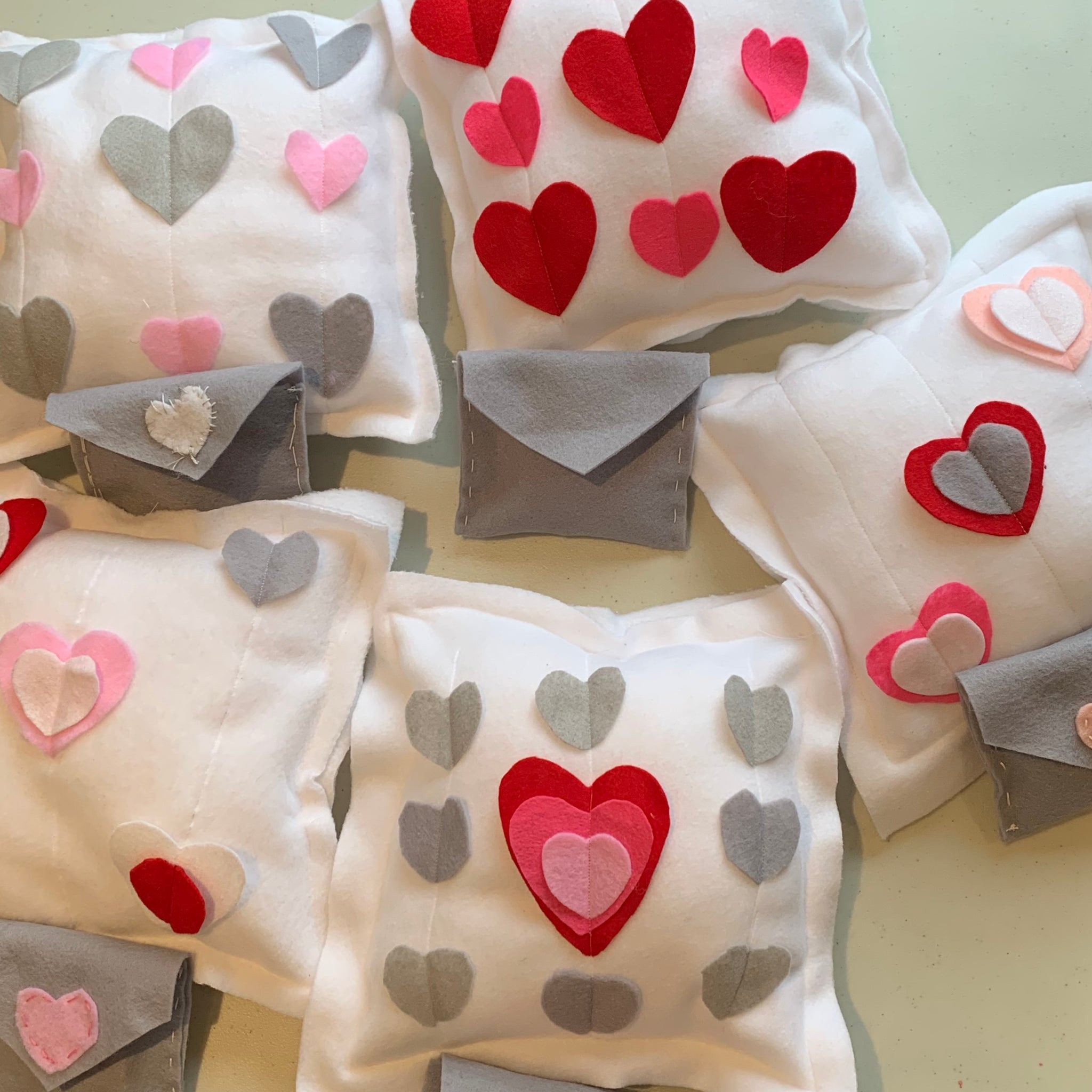 PA day camp - valentine pillow and envelope