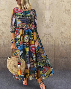 ZANZEA Women Bohemian Sleeveless Floral Printed Sundress Summer Dress Robe Vintage Kaftan Beach Vestido Femme Sarafans Plus Size