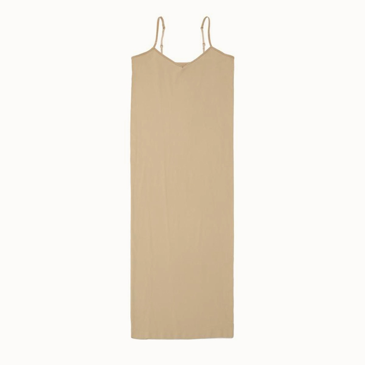 Seamless Nude Slip Dress 2020 Summer Autumn Women Adjustable Strap Sexy Vestidos Stretchy Bodycon Slim Midi Dress Underdress