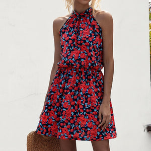 Summer Elegant Sexy beach long Dress Women 2020 Fashion Print Flowers Polka-dot strap Ladies Halter boho dress women vestidos