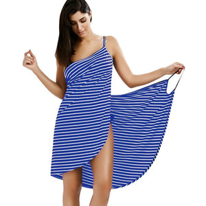 Oufisun Women Plus Size Pareo Beach Cover Up Wrap Dress Bikini Bathing Suit Femme Robe De Plage Beachwear Femme Tunic Kaftan