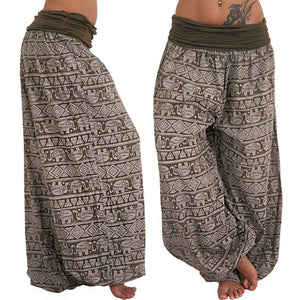 Hot Women Pants Aladdin Elastic Afghan Genie Hippy Loose Dance Fashion Lady Cotton Casual Trousers Plus Size 3XL