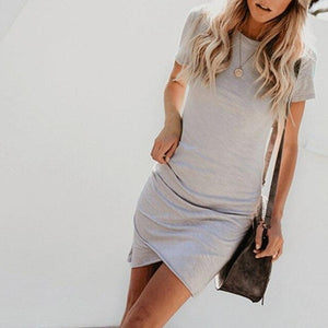 MRMT 2020 Brand Casual Women's Dress 10 Colors Women Dresses O-Neck Dresses Short Sleeve Dress For Female Sexy Woman Clothing