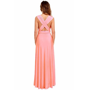 Sexy Women Boho Maxi Club Dress Red Bandage Long Dress Party Multiway Bridesmaids Convertible Infinity Robe Longue Femme
