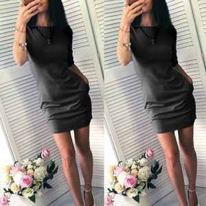 2018 Dress New Year Women's Summer Short Beach Vestido Mini Robe Casual Basic Female Dresses Vestidos