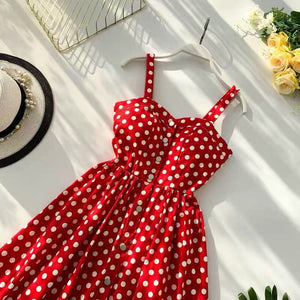 Marwin 2019 New-Coming Summer Women Spaghetti Strap Print Floral Sleeveless Empire Beach Dresses High Street Style
