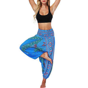 Brand Women Pants Casual Summer Loose Trousers Baggy Boho Aladdin Jumpsuit Harem Pants Plus Size 2020 leggins mujer#30